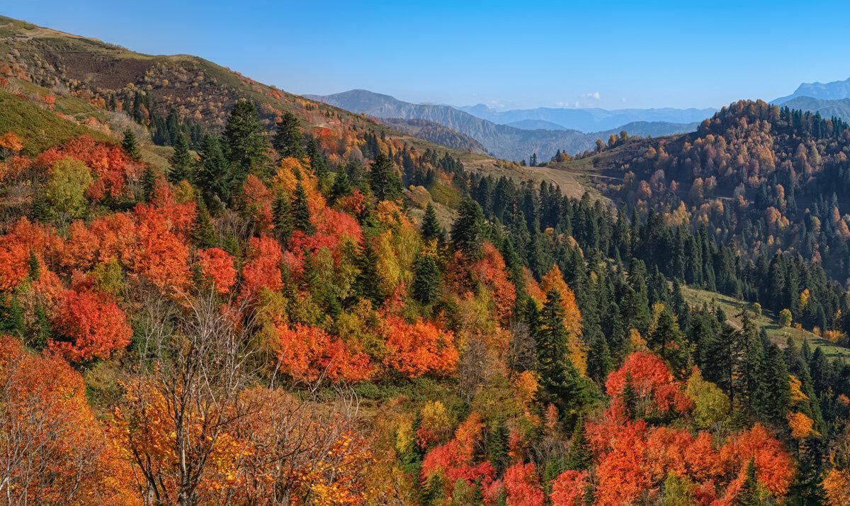 Красная поляна и горы вокруг
